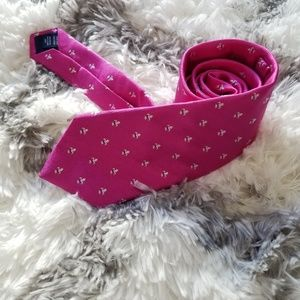 Charles Trywitt pink fleur de lis mens tie